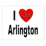 I Love Arlington Small Poster
