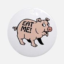 Pinky the BBQ Pig * Ornament (Round)