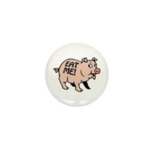 Pinky the BBQ Pig * Mini Button (10 pack)