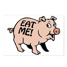 Pinky the BBQ Pig * Postcards (Package of 8)