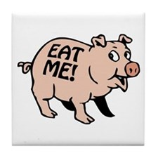 Pinky the BBQ Pig * Tile Coaster