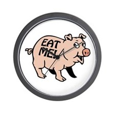 Pinky the BBQ Pig * Wall Clock