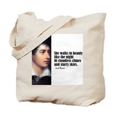"Byron ""She Walks"" Tote Bag"