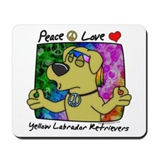 Hippie Yellow Lab Mousepad