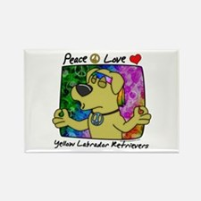 Hippie Yellow Lab Rectangle Magnet