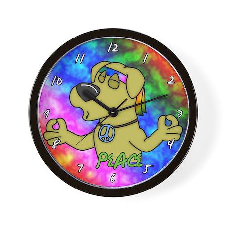 Hippie Yellow Lab Clock