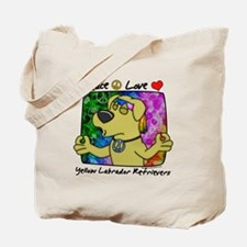 Hippie Yellow Lab Tote Bag