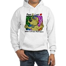 Hippie Yellow Lab Hoodie
