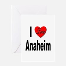 I Love Anaheim California Greeting Card