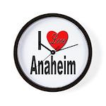 I Love Anaheim California Wall Clock