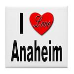 I Love Anaheim California Tile Coaster