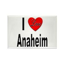 I Love Anaheim California Rectangle Magnet