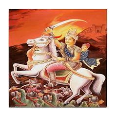 Jhansi Rebel Queen Tile Coaster