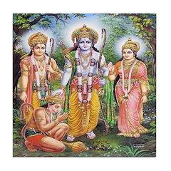 Rama, Sita, Lakshmana & Hanuman Tile Coaster