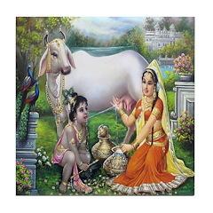 Krishna and Yashoda Tile Coaster