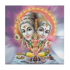 Ganesh Shiva Tile Coaster