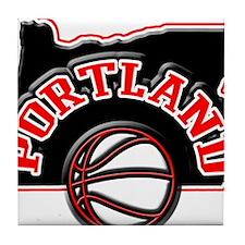 Portland Basketball Tile Coaster
