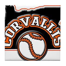 Corvallis Baseball Tile Coaster