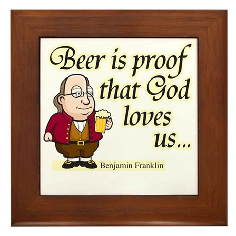 Beer is Proof - Framed Tile