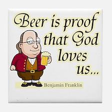 Beer is Proof - Tile Coaster