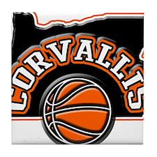 Corvallis Basketball Tile Coaster