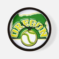 Oregon Baseball Wall Clock