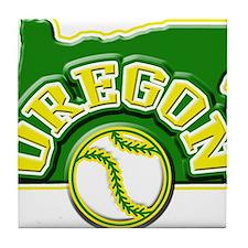Oregon Baseball Tile Coaster