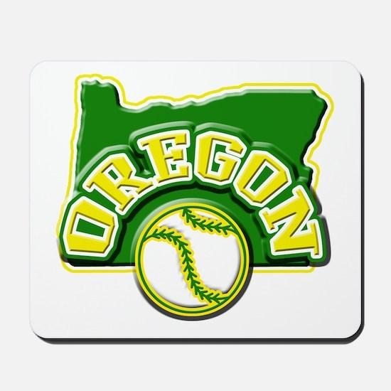 Oregon Baseball Mousepad