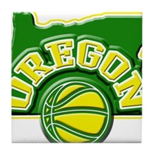 Oregon Basketball Tile Coaster