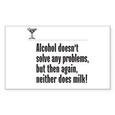 Alcohol or Milk? - Rectangle Decal