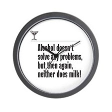 Alcohol or Milk? - Wall Clock