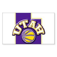 Utah Basketball Rectangle Sticker 10 pk)