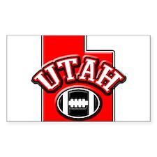 Utah Football Rectangle Sticker 10 pk)