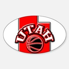 Utah Basketball Oval Decal
