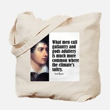 """Byron """"Adultery"""" Tote Bag"""