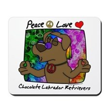 Hippie Chocolate Lab Mousepad