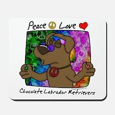 Hippie Chocolate Lab Mousepad