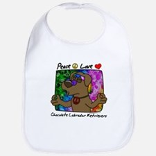 Hippie Chocolate Lab Bib