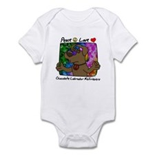 Hippie Chocolate Lab Infant Bodysuit
