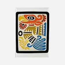 Mexican Aztec Eagle Rectangle Magnet
