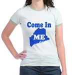 Maine, Come In! Jr. Ringer T-Shirt