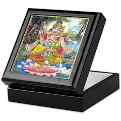 Krishna and Radha Dancing Keepsake Box