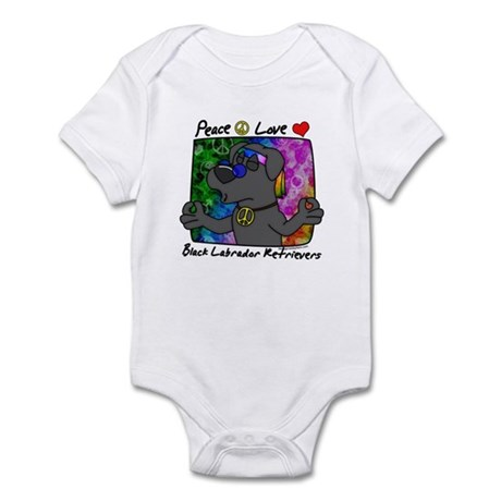 Hippie Black Lab Infant Bodysuit