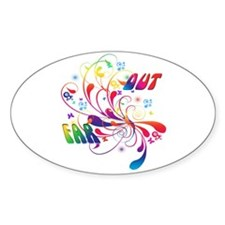 Far Out Oval Decal