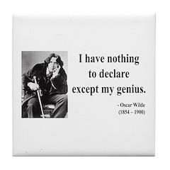 Oscar Wilde 14 Tile Coaster