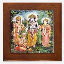 Rama, Sita, Lakshmana & Hanuman Framed Tile