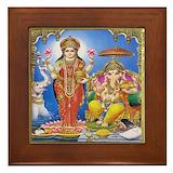 Ganesh lakshmi Framed Tiles