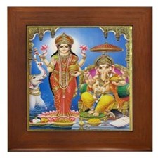 Ganesha Gaja Lakshmi Framed Tile