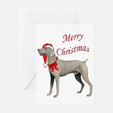 Weimaraner Santa Greeting Cards (Pk of 10)