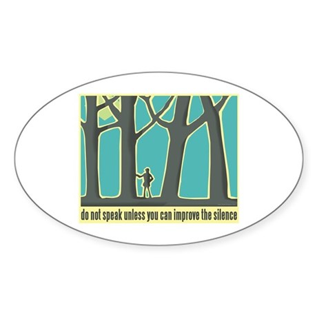 John Muir Quote Sticker (Oval 10 pk)